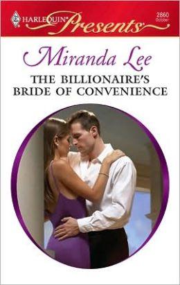 The Billionaire's Bride of Convenience (Harlequin Presents Series #2860)