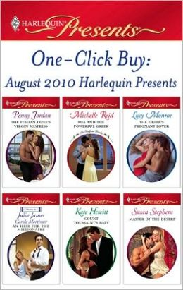 One-Click Buy: August 2010 Harlequin Presents Penny Jordan and Michelle Reid