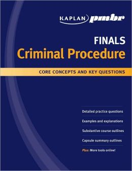 Kaplan PMBR FINALS: Criminal Procedure: Core Concepts and Key Questions