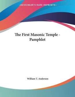 First Masonic Temple - Pamphlet