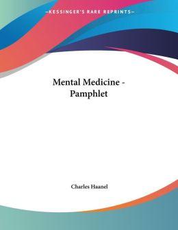Mental Medicine - Pamphlet