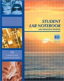 Chemistry Student Lab Notebook: 50 Carbonless Duplicate Sets