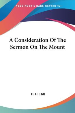 Consideration of the Sermon on the Mount