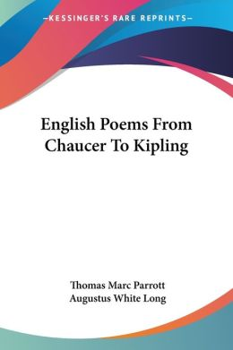 English Poems from Chaucer to Kipling