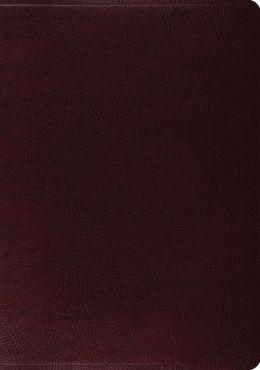 The ESV Study Bible: Bonded Leather, Burgundy