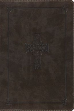 ESV Study Bible Personal Size, TruTone, Olive, Celtic Cross