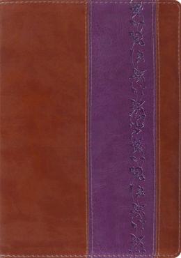 ESV Study Bible TruTone Brown/Purple, Iris Design