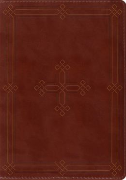 ESV Study Bible (TruTone, Brown, Engraved Cross Design)
