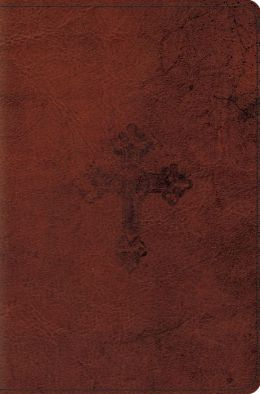 ESV Compact Bible (TruTone, Walnut, Weathered Cross Design)
