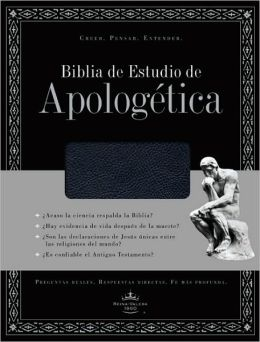 Biblia de Estudio de Apologetica (Black Bonded Leather)