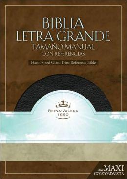 RVR 1960 Biblia Letra Granda Tamaño Manual, negro piel fabricada con índice