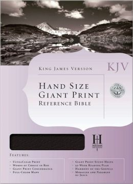 KJV Hand Size Giant Print Reference Bible, Burgundy Bonded Leather Indexed