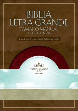 RVR 1960 Biblia Letra Grande Tamano Manual con Referencias, borravino/perlado simil piel