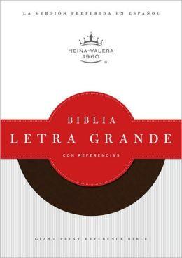 RVR 1960 Biblia Letra Grande con Referencias, chocolate simil piel
