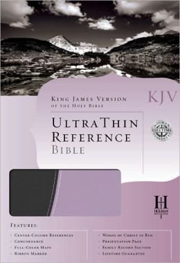 KJV Ultrathin Reference Bible, Gray/Periwinkle LeatherTouch
