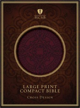 HCSB Large Print Compact Bible, Burgundy LeatherTouch