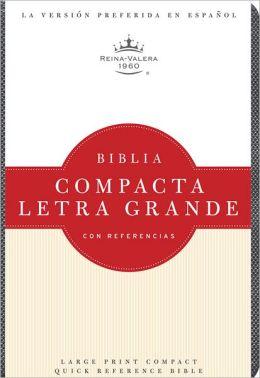 RVR 1960 Biblia Compacta Letra Grande, cuarzo grisado imitacion piel