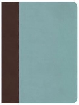 Life Essentials Study Bible, Brown/Blue LeatherTouch: Biblical Principles to Live By