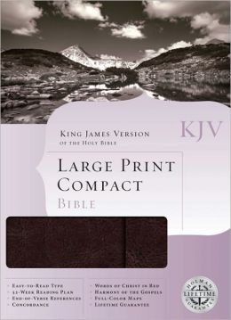 KJV Large Print Compact Bible, Brown Bonded Leather with Magnetic Flap