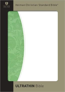 HCSB Ultrathin Reference Bible, Green/White Simulated Leather