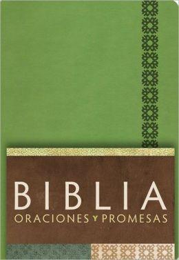 RVC Biblia Oraciones y Promesas - Verde Manzana simil piel con indice