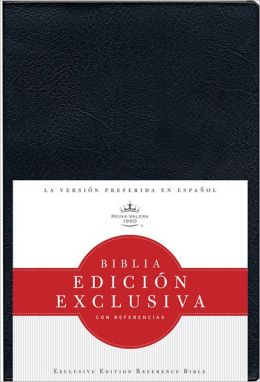 RVR 1960 Biblia Edicion Exclusiva con Referencias, vinilo (Negro)