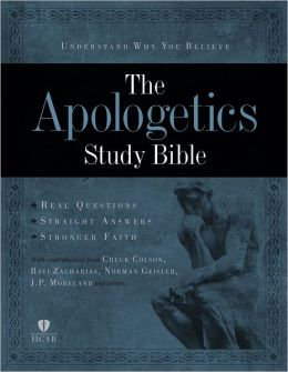 Apologetics Study Bible - Black Genuine Leather Indexed