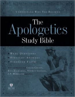 Apologetics Study Bible - Black Genuine Leather