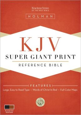 KJV Super Giant Print Reference Bible, Black/Tan LeatherTouch Leather