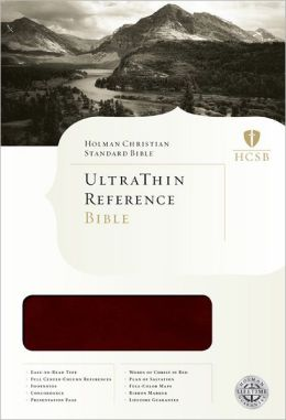 HCSB Ultrathin Reference Bible, Mahogany LeatherTouch