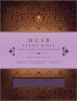 HCSB Study Bible, Mulberry LeatherTouch Indexed