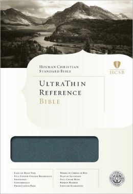 HCSB Ultrathin Reference Bible, Mantova Blue LeatherTouch