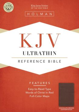 KJV Ultrathin Reference Bible, Chocolate LeatherTouch