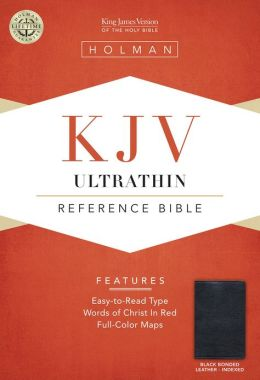 KJV Ultrathin Reference Bible, Black Bonded Leather Indexed