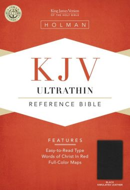 KJV Ultrathin Reference Bible, Black LeatherTouch