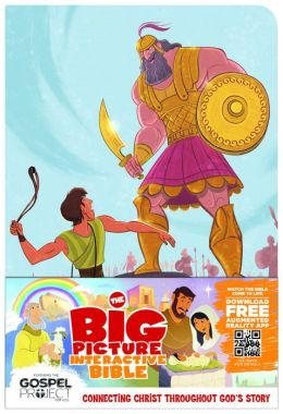 The Big Picture Interactive Bible for Kids, David and Goliath Edition LeatherTouch: Connecting Christ Throughout God's Story