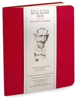 2011 Barnes & Noble Red Softcover Desk Diary Calendar