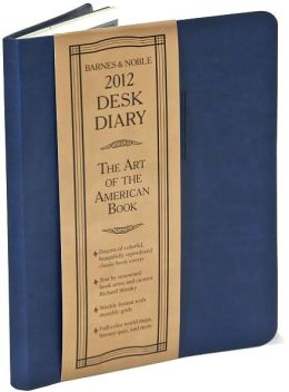2012 Barnes & Noble Softcover Desk Diary (blue)