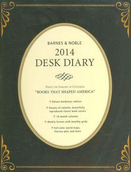2014 Barnes & Noble Hardcover Desk Diary