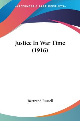 Justice in War Time (1916)