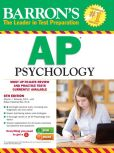 Book Cover Image. Title: Barron's AP Psychology, 6th Edition, Author: Robert McEntarffer
