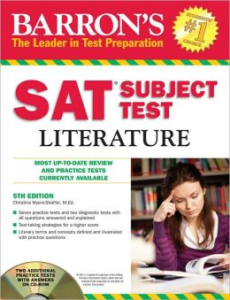Barron's SAT Subject Test: Literature with CD-ROM, 5th Edition
