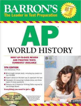 Barron's AP World History with CD-ROM, 5th Edition