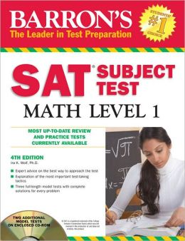 Barron's SAT Subject Test Math Level 1 with CD-ROM, 4th Edition
