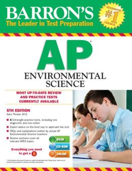 Barron's AP Environmental Science with CD-ROM, 5th Edition