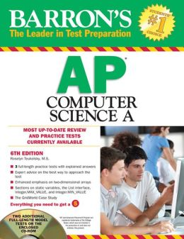 Barron's AP Computer Science A with CD-ROM, 6th Edition