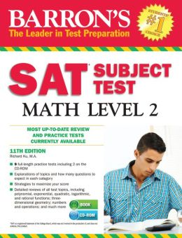 Barron's SAT Subject Test Math Level 2 with CD-ROM, 11th Edition