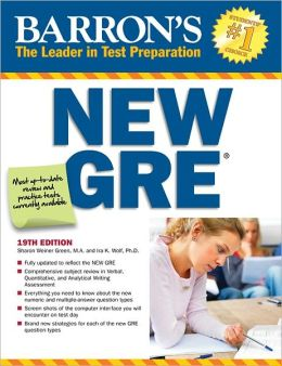 Barron's New GRE, 19th Edition