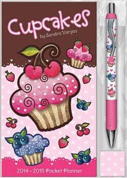 2014 Cupcakes Sandra Vargas Pocket Planner w/Pen