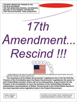 17th Amendment...Rescind!!!
